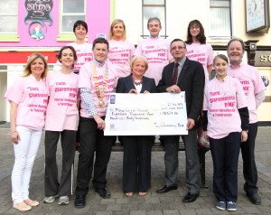 Formal Handover of cheque to Mayo Cancer Support